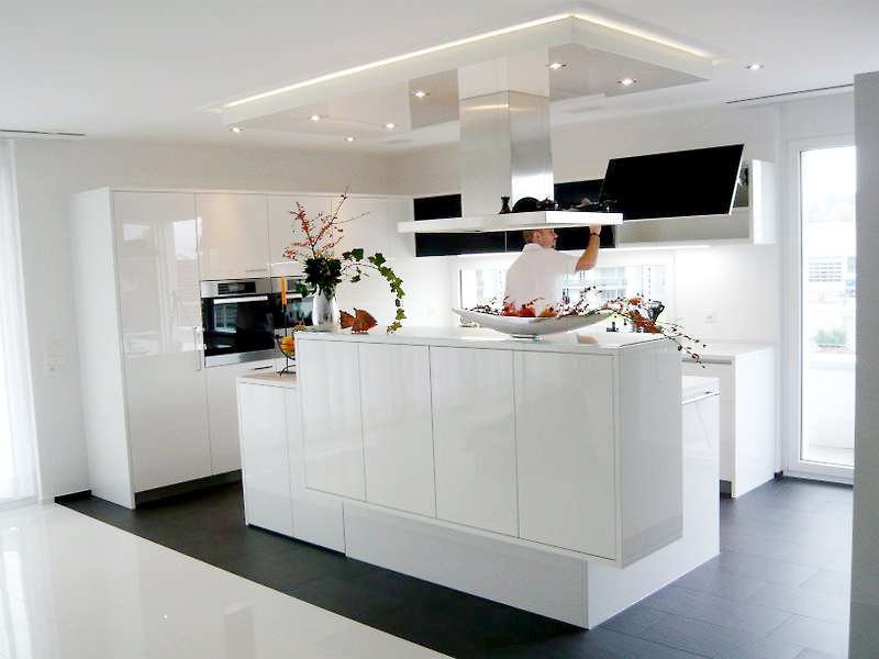 Bild einer Hochglanzküche